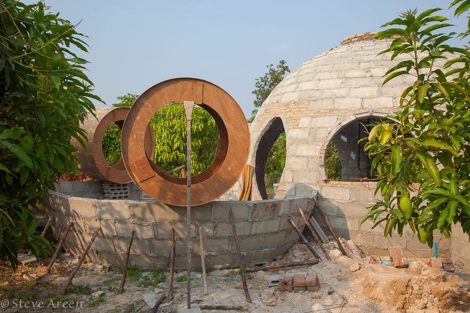 Купольный дом - строительство второй комнаты
