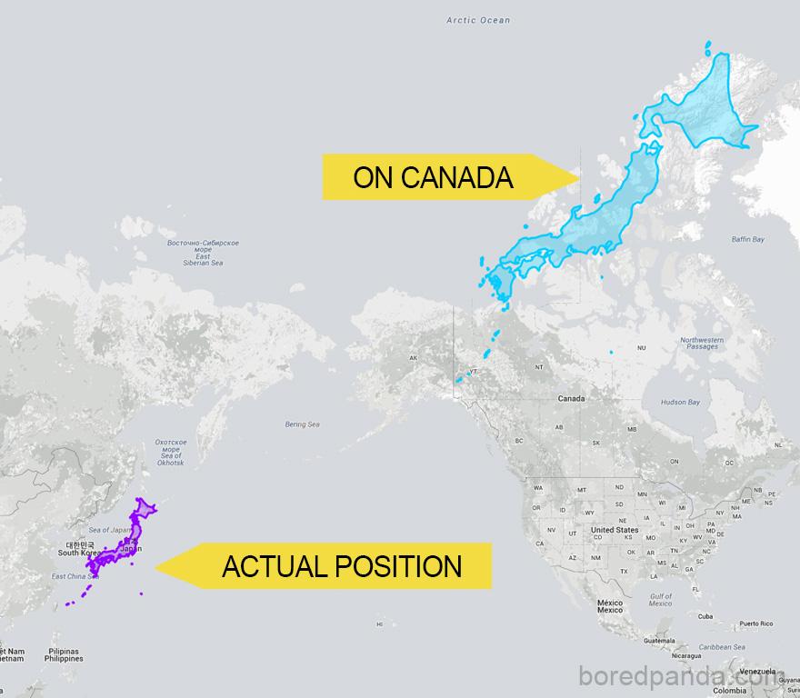 Настоящая карта мира
