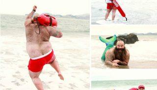 10 комичных фото с пляжа от парня с чувством юмора!