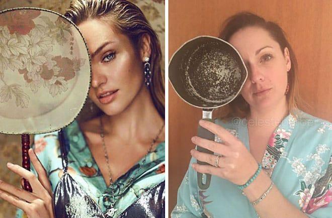 Австралийка смешно пародирует фотографии звёзд из Инстаграма