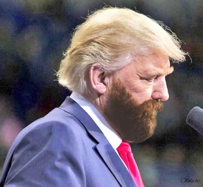 Трамп попросил не публиковать его снимки с двойным подбородком, но интернет ответил фотожабами