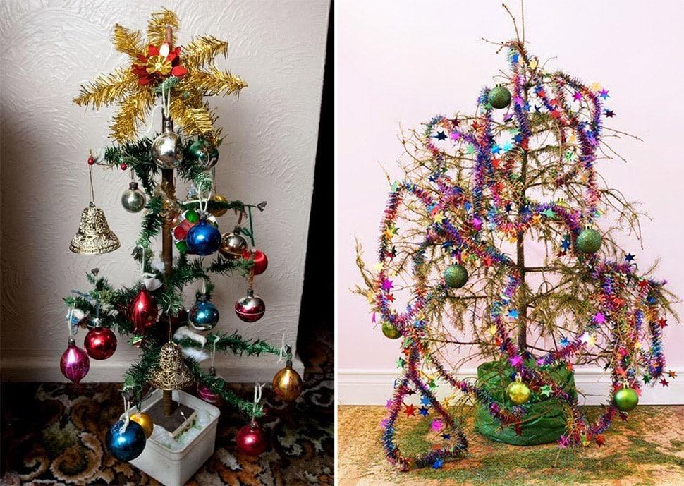 14 самых уродливых новогодних елок!