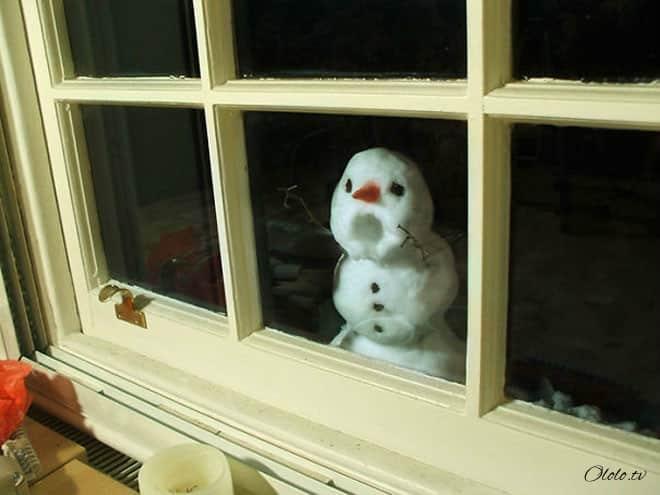 16 самых забавных и безумных снеговиков