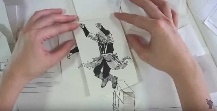 Когда комикс оживает: бумажный Assassin's Creed от талантливого аниматора из Сингапура