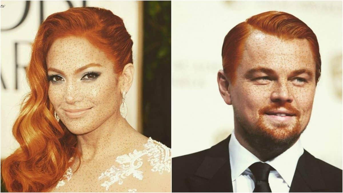 Как выглядели бы знаменитости, будь они рыжими и конопатыми