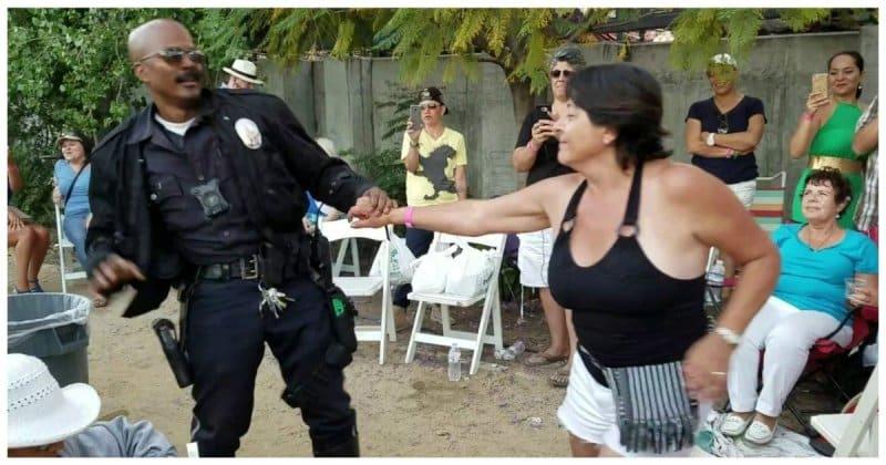 Американский полицейский показал, как нужно танцевать сальсу! Видео