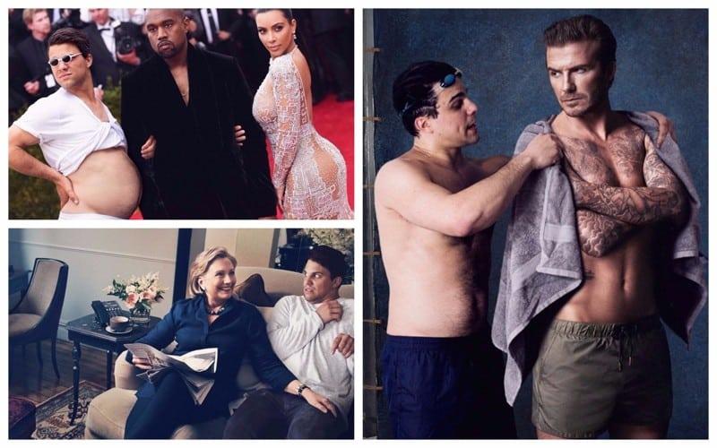 Интернет-тролль с помощью фотошопа высмеивает студийные фото знаменитостей