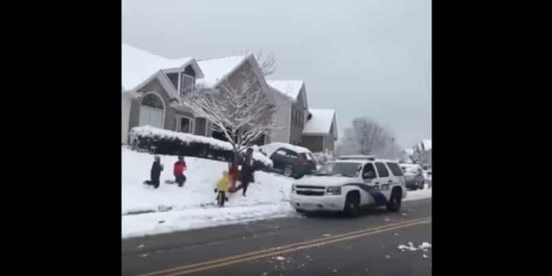 Реакция полицейских в Канаде. Видео