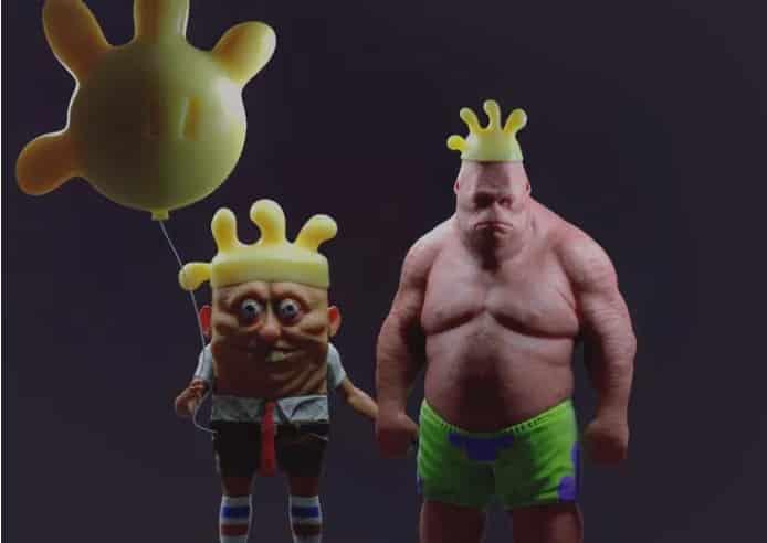 Художник превратил Спанч Боба и Патрика в людей. И это не для слабонервных!
