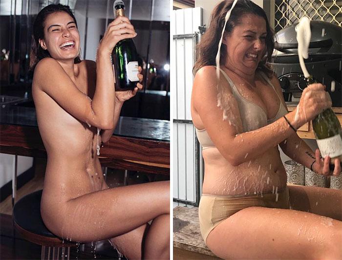15+ идеальных фото из Инстаграм, высмеянных пародисткой из Австралии