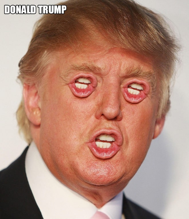 Если бы у знаменитостей был рот вместо глаз!