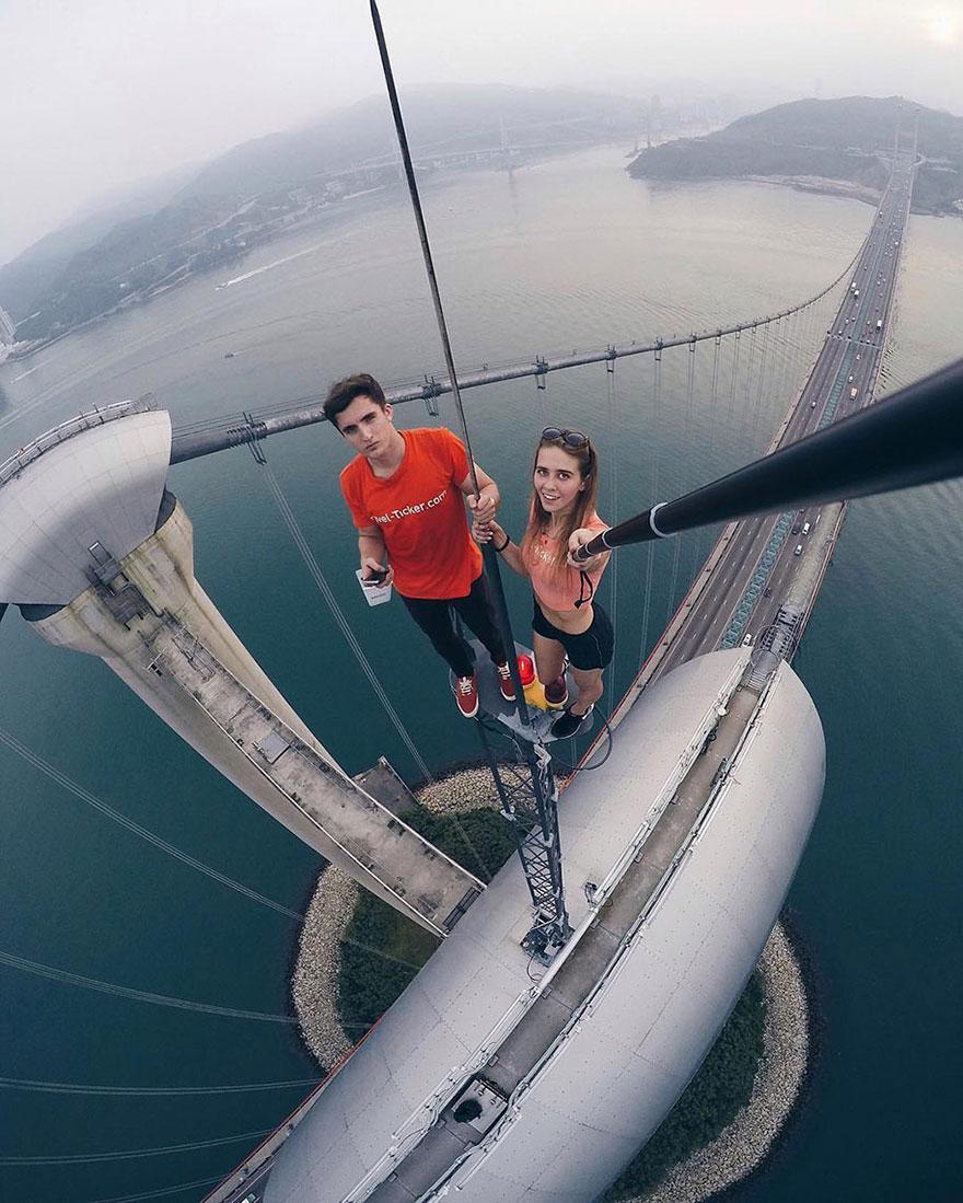14 самых опасных селфи в мире в исполнении русского фотографа рис 7