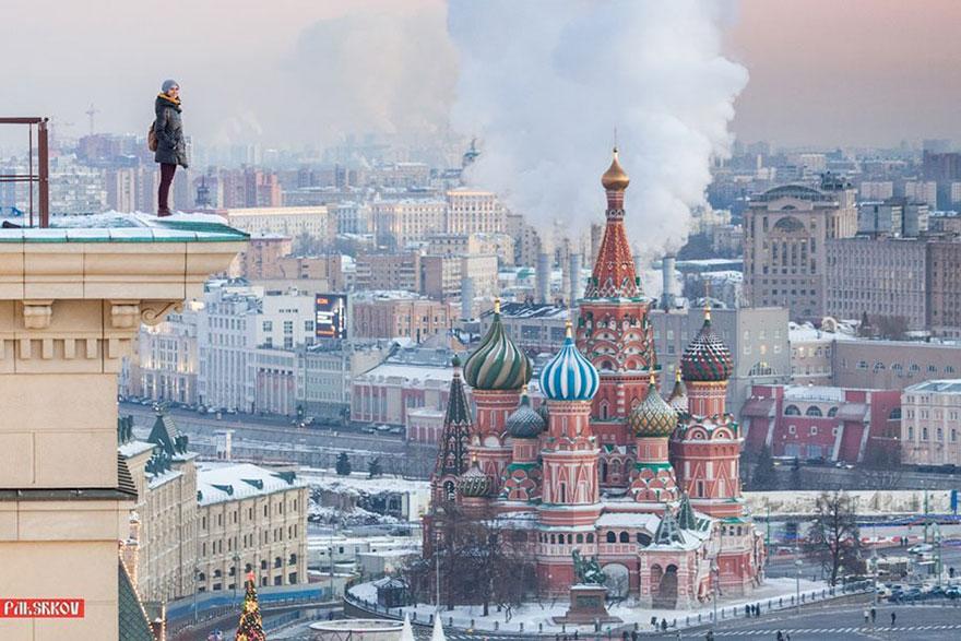 14 самых опасных селфи в мире в исполнении русского фотографа рис 6