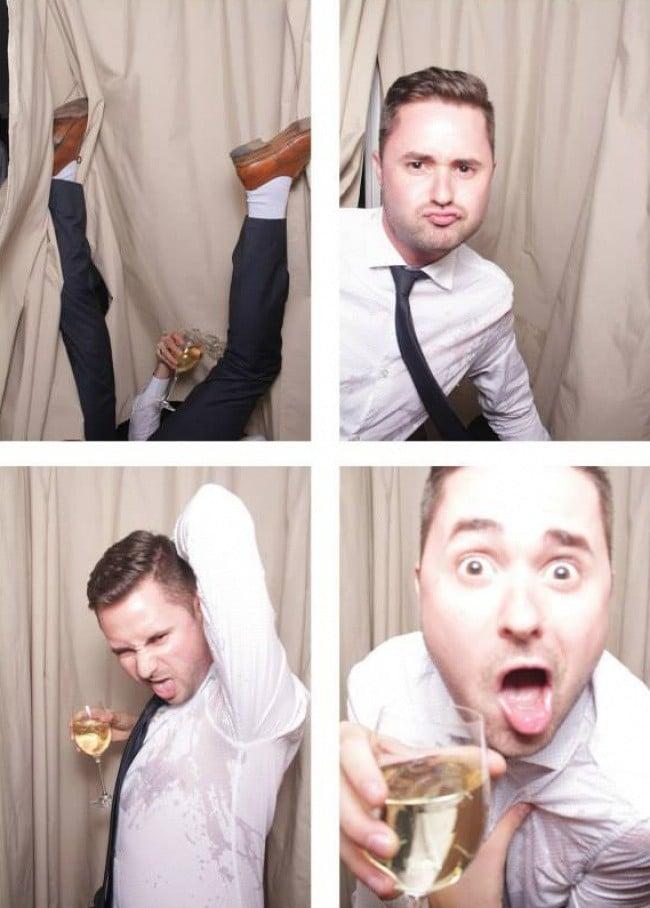 Свадебное фото - пьяный парень