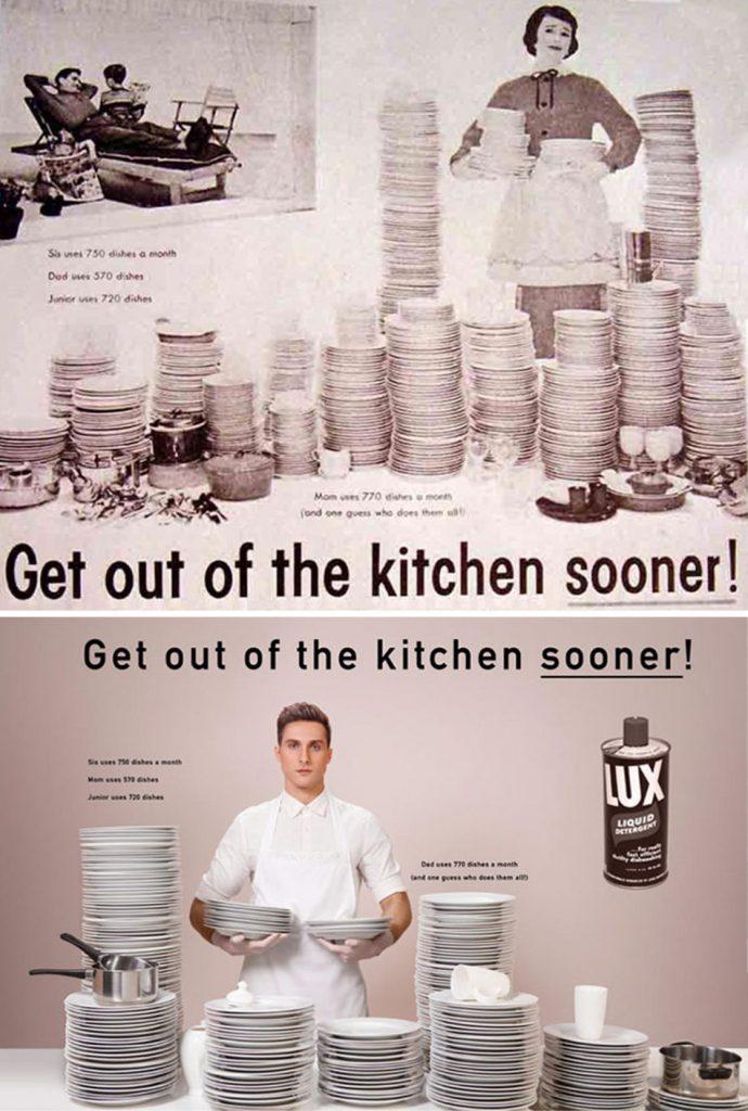 Фотограф поменял мужчин и женщин местами на старых рекламных плакатах. Справедливость восторжествовала! :) рис 10