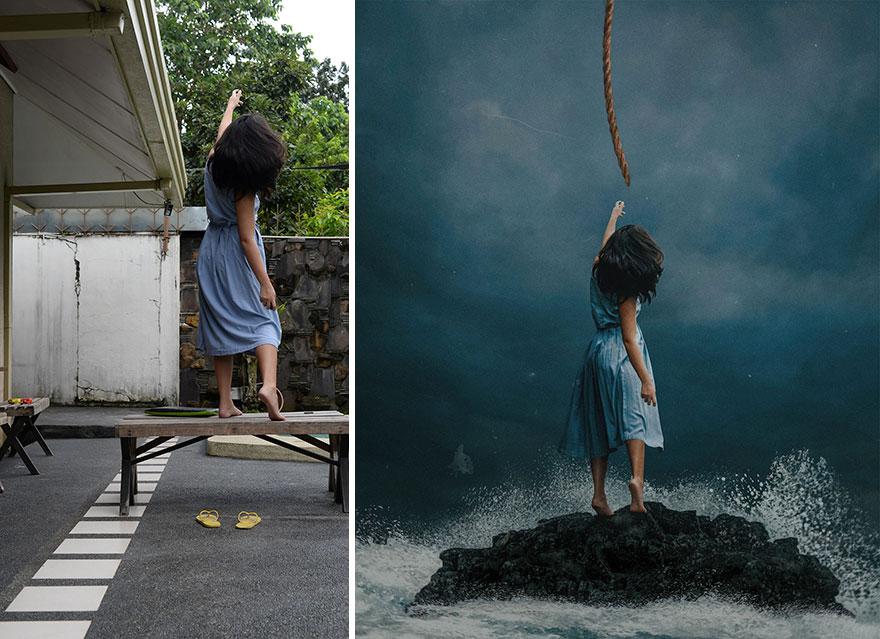 20 фото из заднего двора, которые художница превратила в сказочные картинки! рис 11