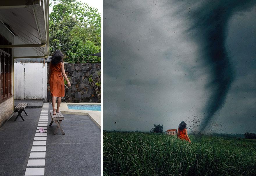 20 фото из заднего двора, которые художница превратила в сказочные картинки! рис 13