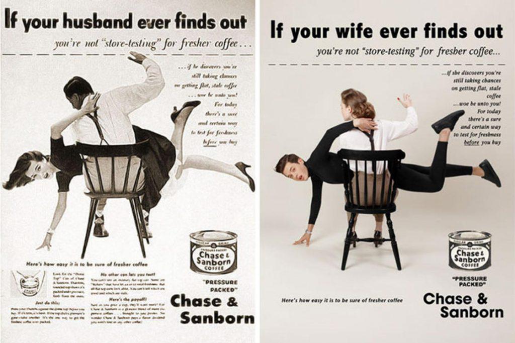 Фотограф поменял мужчин и женщин местами на старых рекламных плакатах. Справедливость восторжествовала! :) рис 3