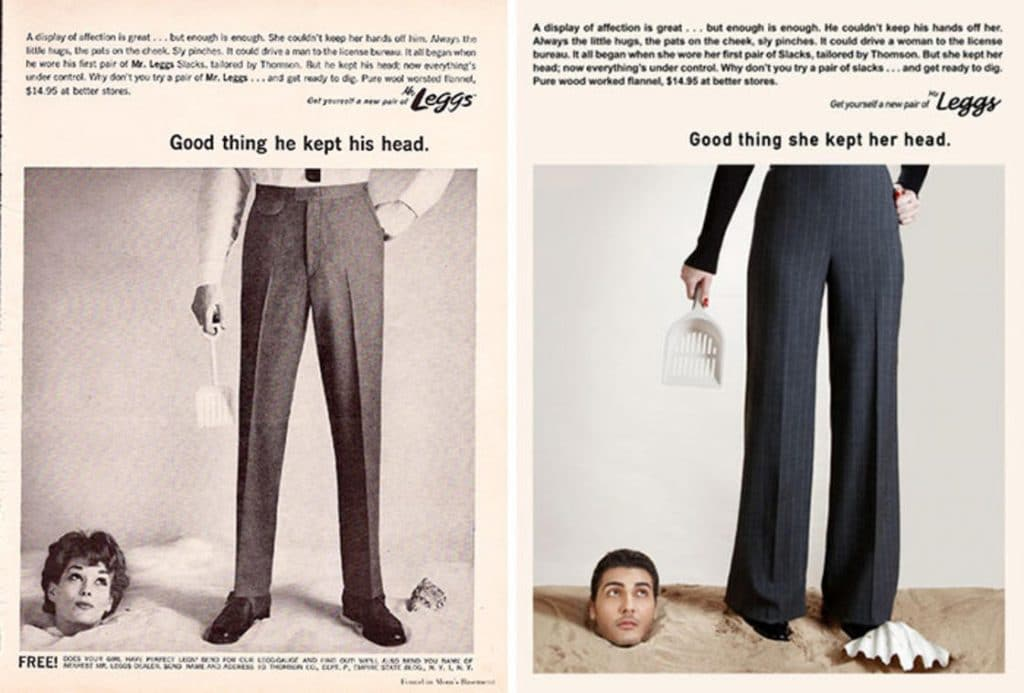 Фотограф поменял мужчин и женщин местами на старых рекламных плакатах. Справедливость восторжествовала! :) рис 7