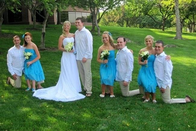 Странная свадебная композиция