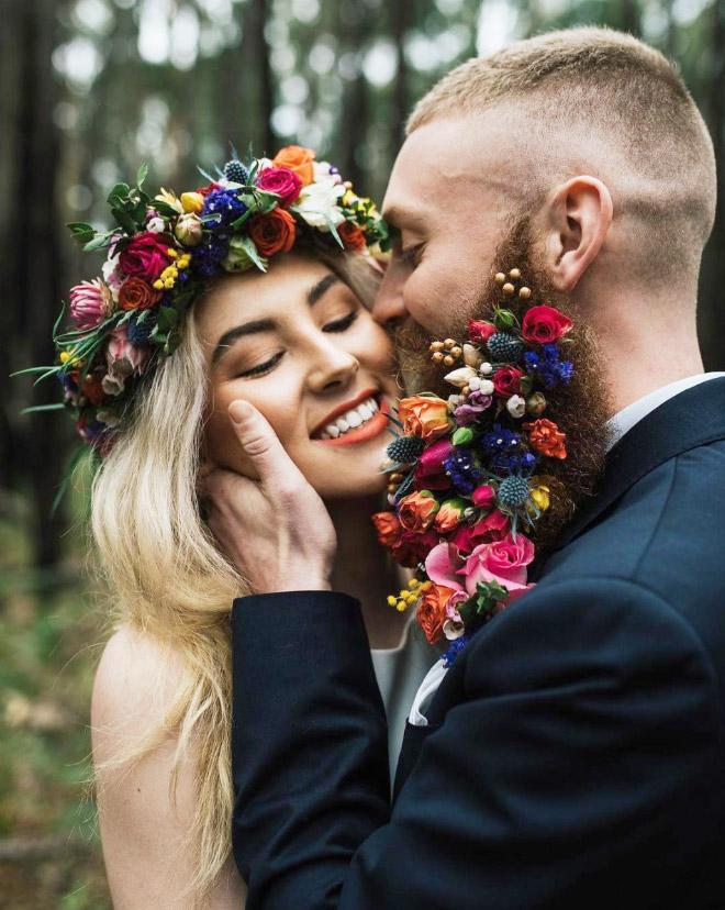 Цветы тебе в бороду! В Инстаграме новый тренд!