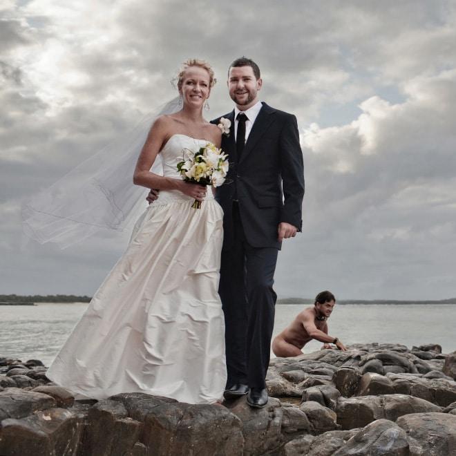 20 случайно испорченных снимков со свадьбы, ставших настоящей фотобомбой! рис 5