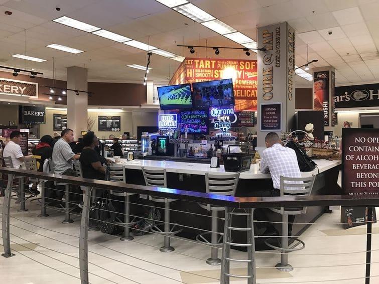 бар в супермаркете