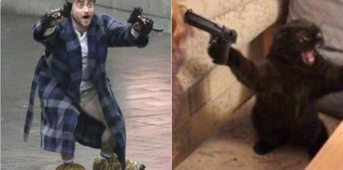 дэниел рэдклифф с пистолетами