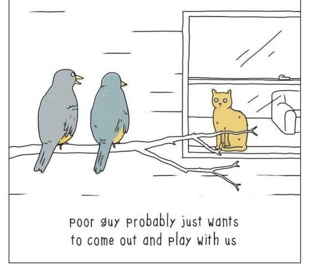 20 комиксов о том, что бы сказали животные, если бы они могли говорить! 7