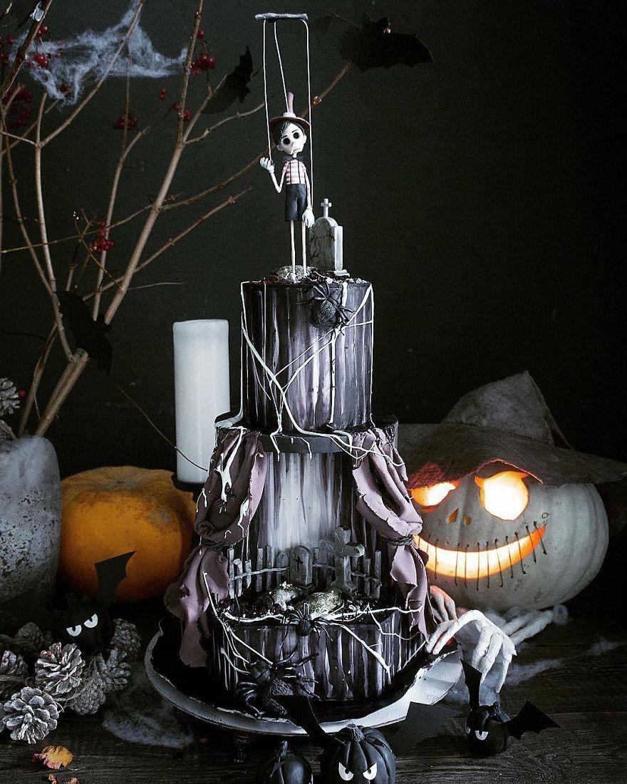 торт для хэллоуина