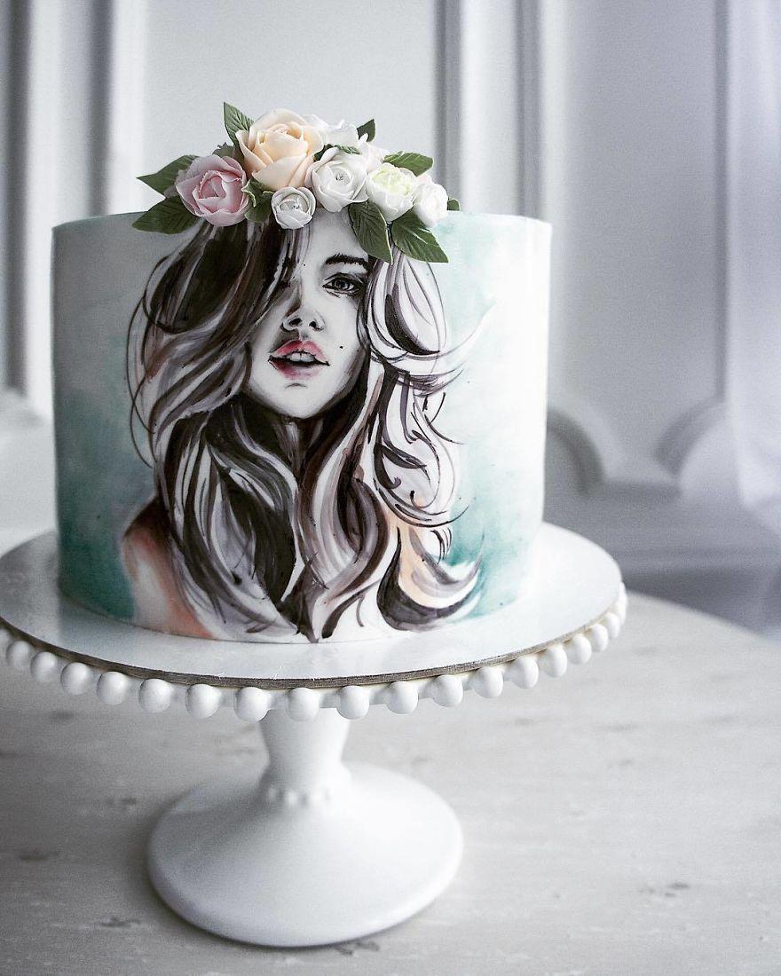 торт для девушки