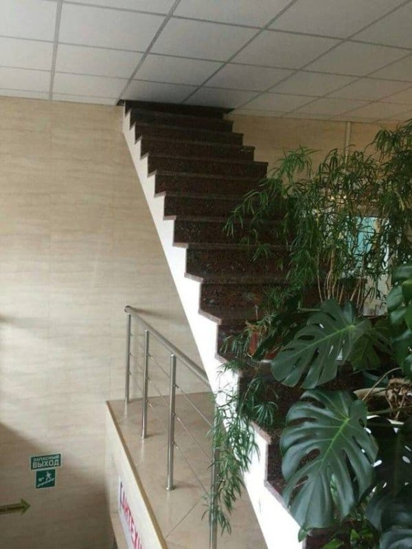 лестница под потолок