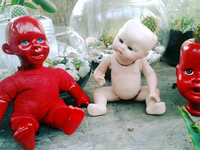 14 раз, когда головы кукол выступали в роли цветочных горшков и пугали нас до смерти! 1