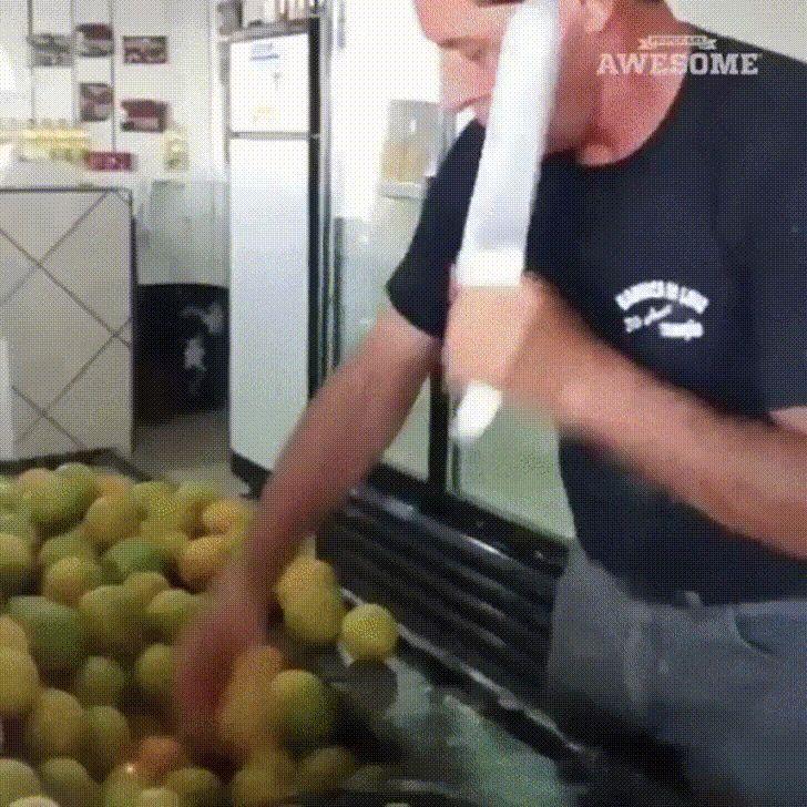 быстрая нарезка лимонов
