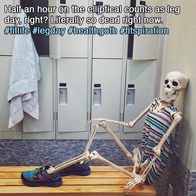 скелет в раздевалке