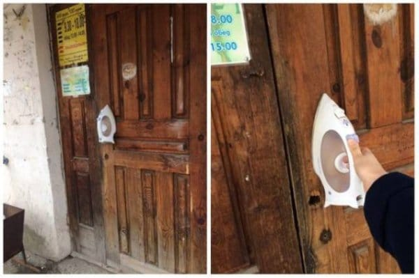 утюг на двери