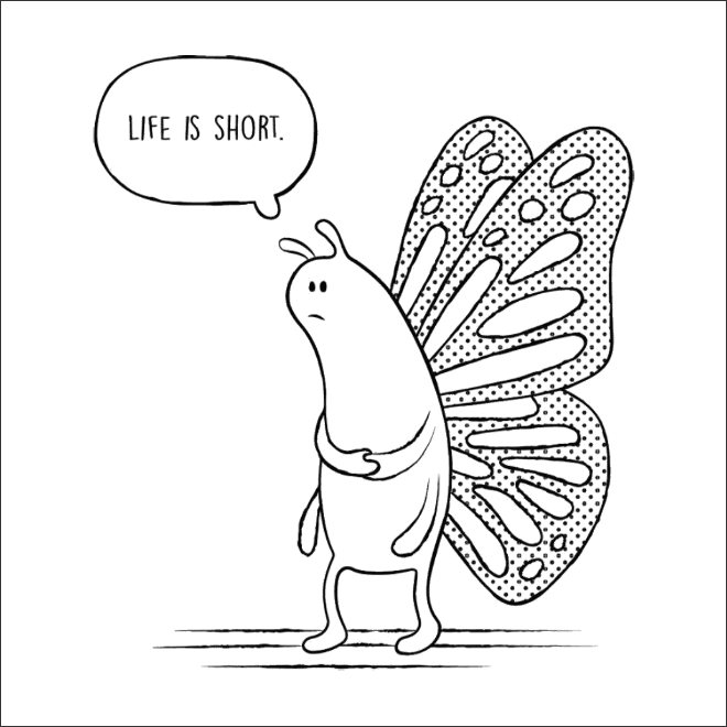 нарисованная бабочка