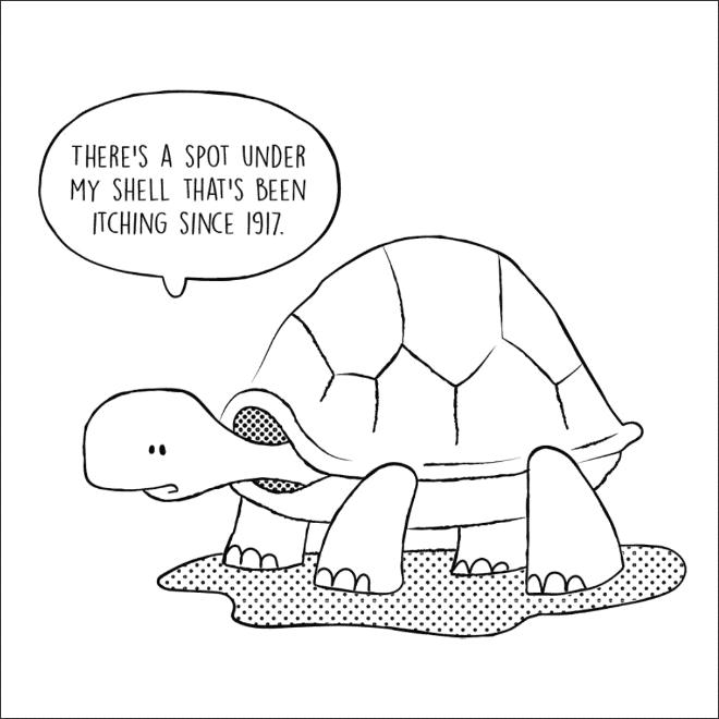 нарисованная черепаха