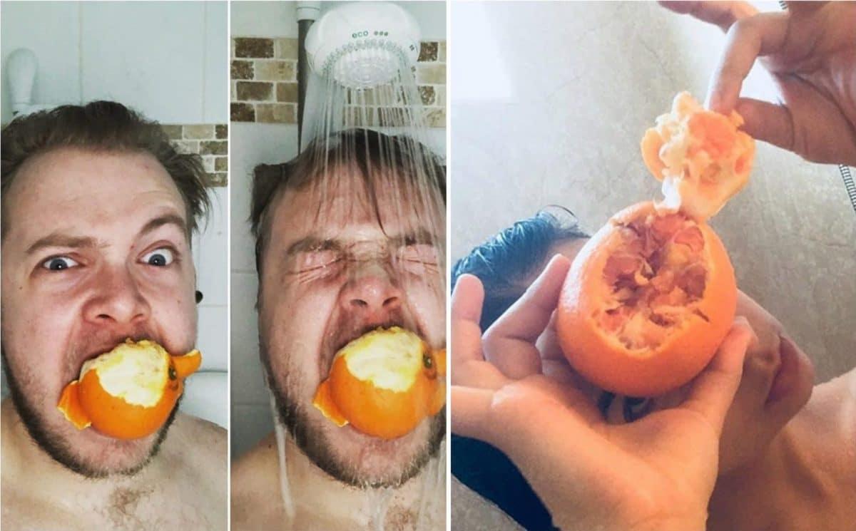 апельсин в душе