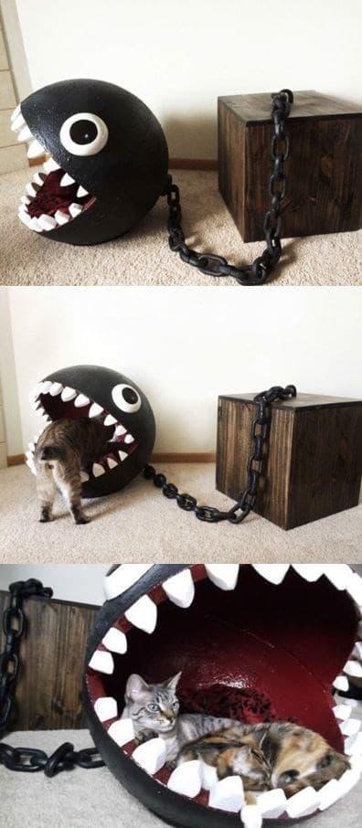 кошачий домик на цепи