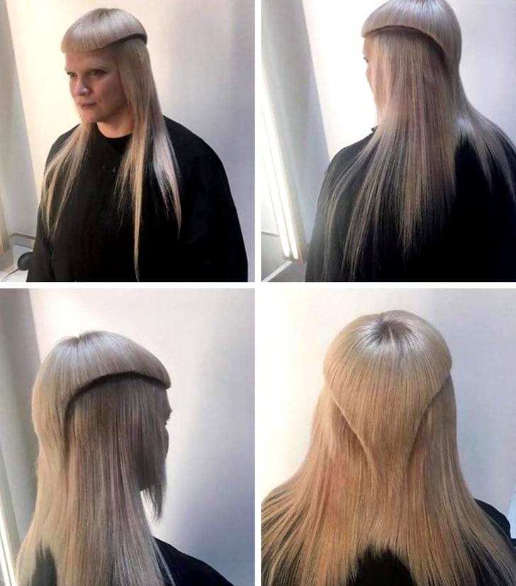 необычная причёска