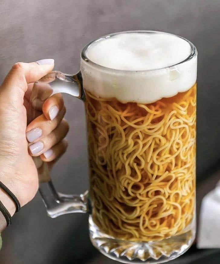 пиво с вермишелью