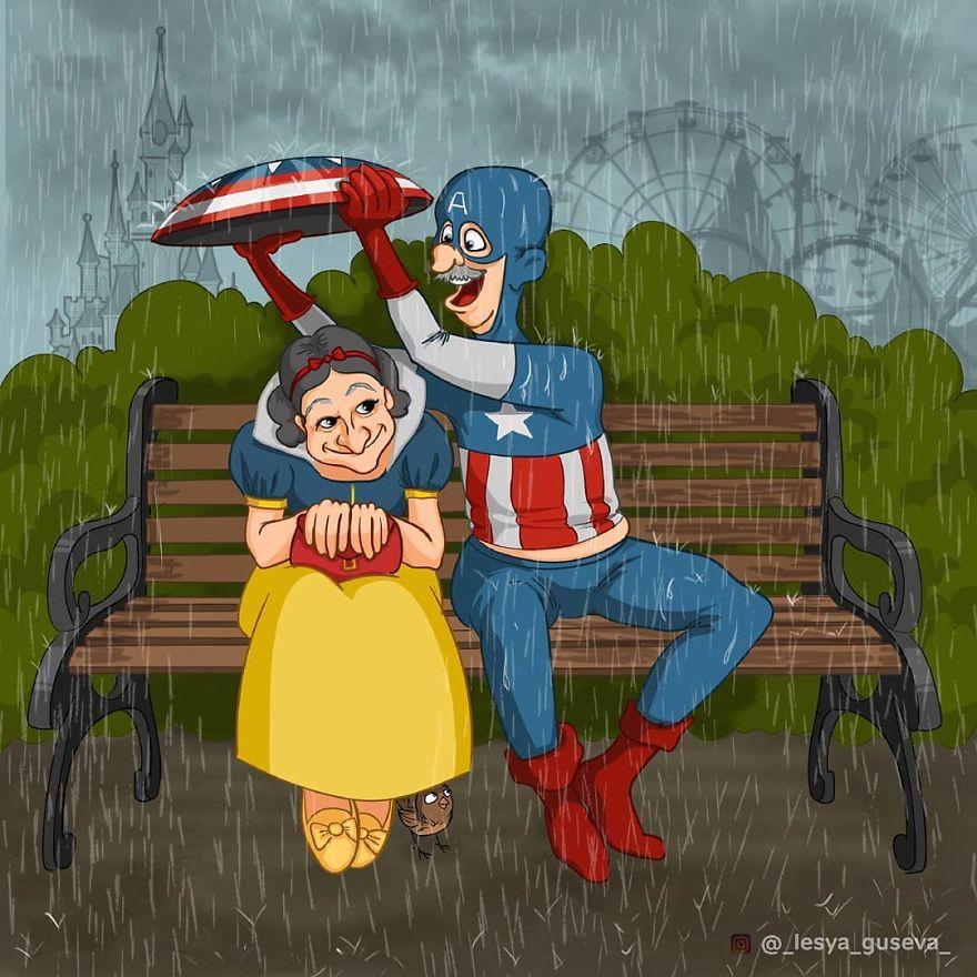 Белоснежка и Капитан Америка