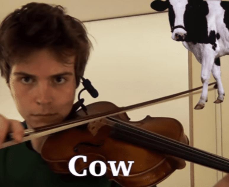 звуки на скрипке