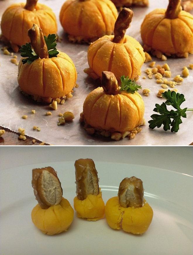 печенье в форме тыквы