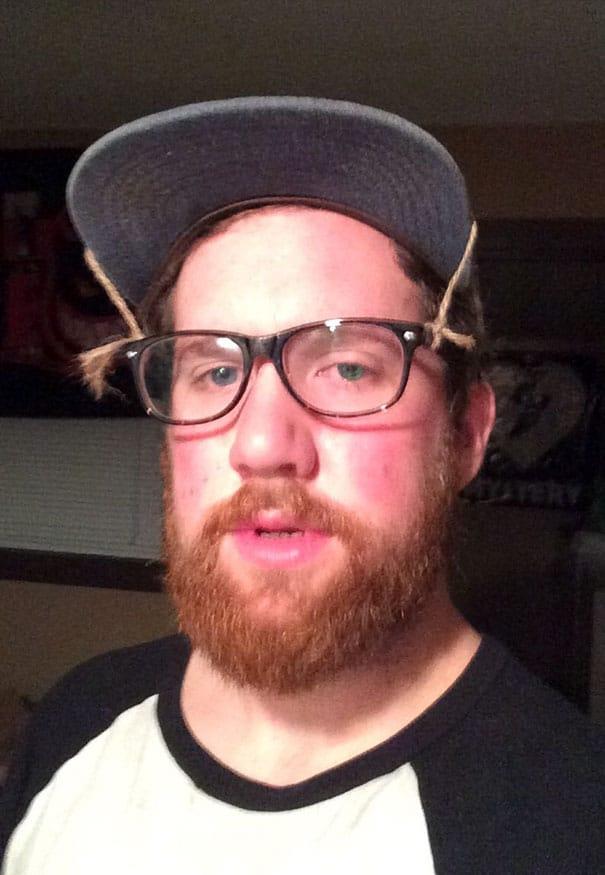 парень в очках