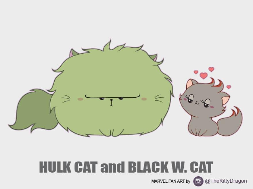 Hulk Cat and Black W. Cat