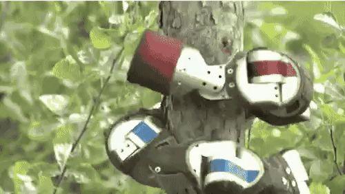 робот на дереве