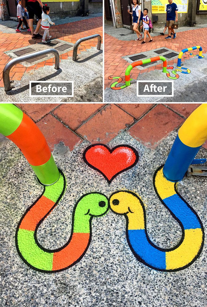 змеи стрит-арт