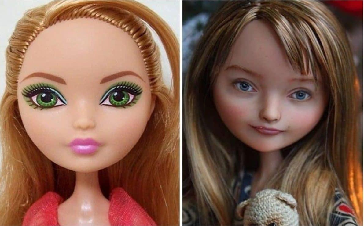 куклы до и после